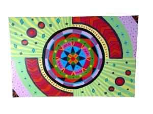 schilderij cirkels kleuren vormen