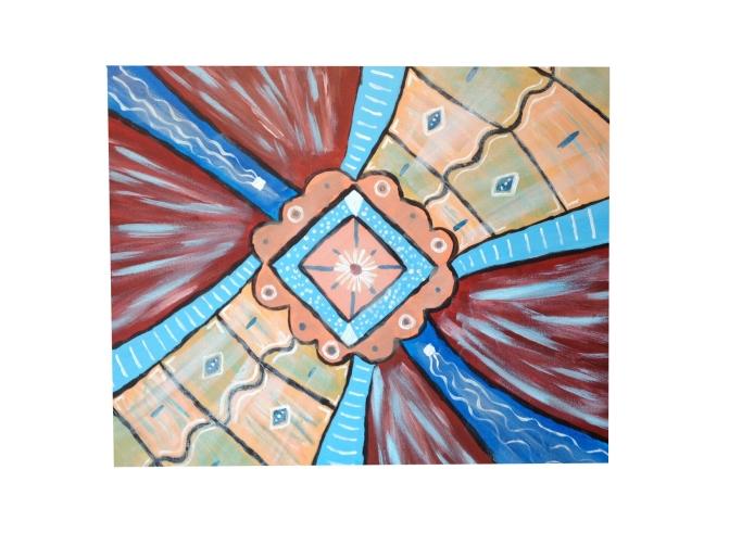 web_schilderij bruinrood blauw abstract