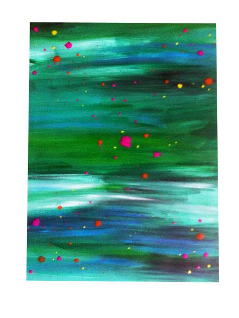 schilderij_groene_confetti